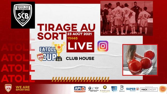 Le tirage en direct de l'ATOLL Beaucouzé Cup 2021