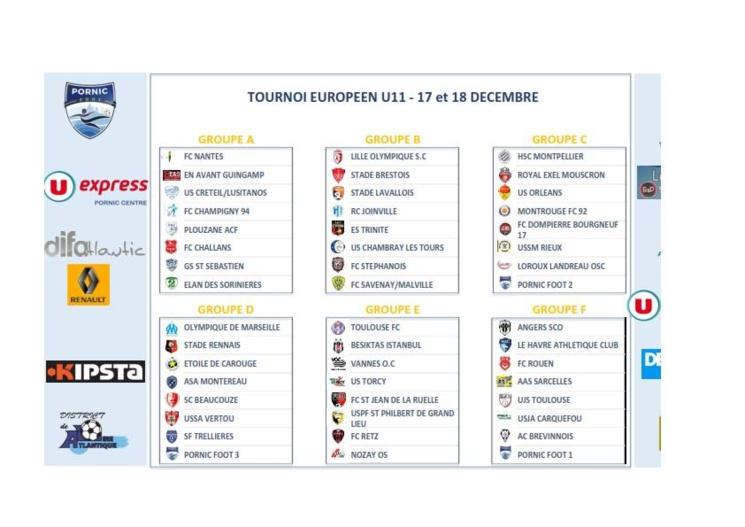 U11. Avec l'Olympique de Marseille au Tournoi Européen de Pornic ce week-end