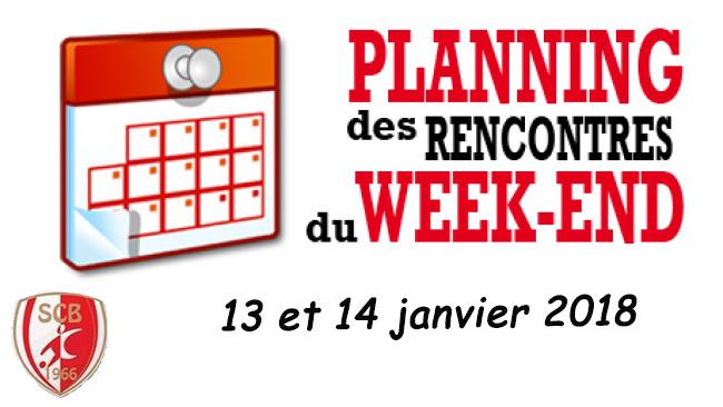 Agenda du week end 13 et 14 janvier 2018