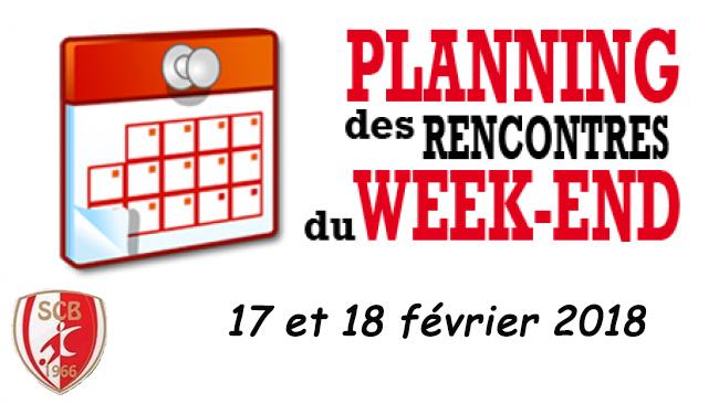 Agenda du week end 17 et 18 février 2018