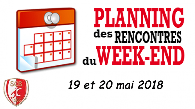 Agenda du week end 19 et 20 mai 2018