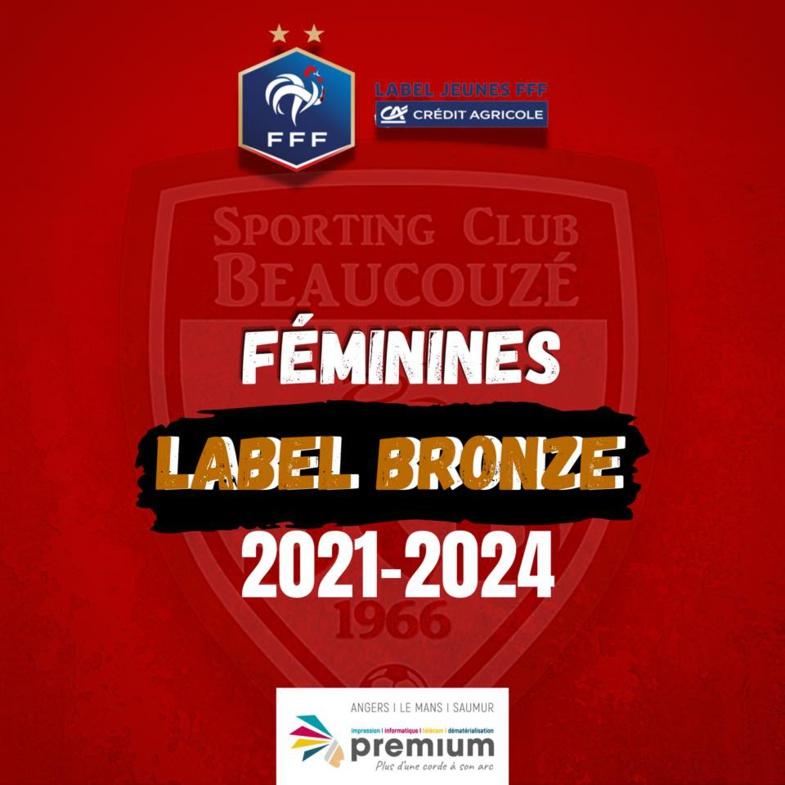 Renouvellement du Label Jeunes Foot Féminin FFF 2021/2024 !