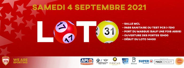 LOTO ce samedi 4 septembre à Beaucouzé