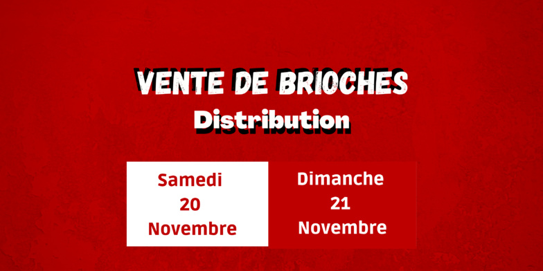 Vente de Brioches au Sporting !