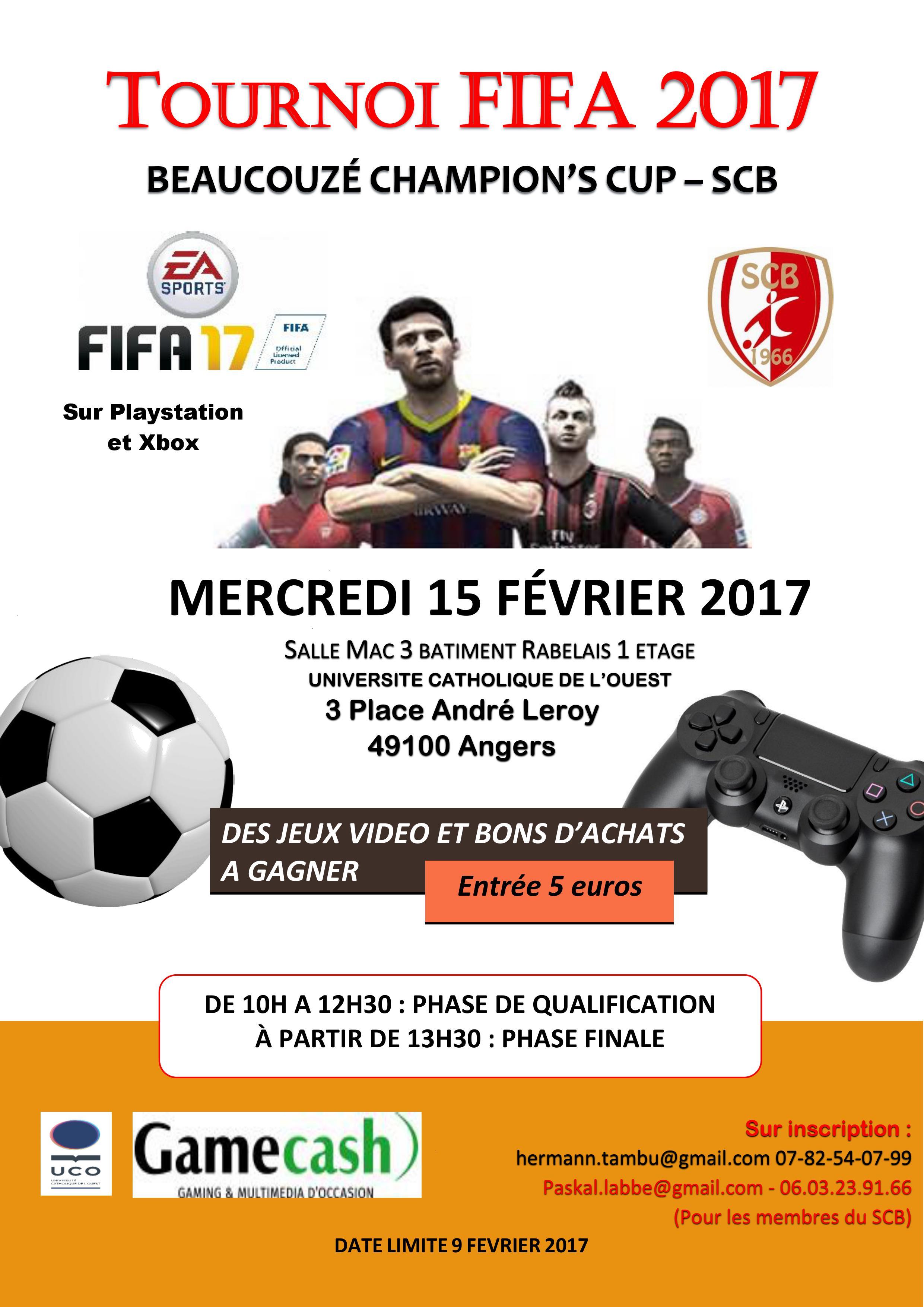Tournoi de jeu vidéo FIFA 17