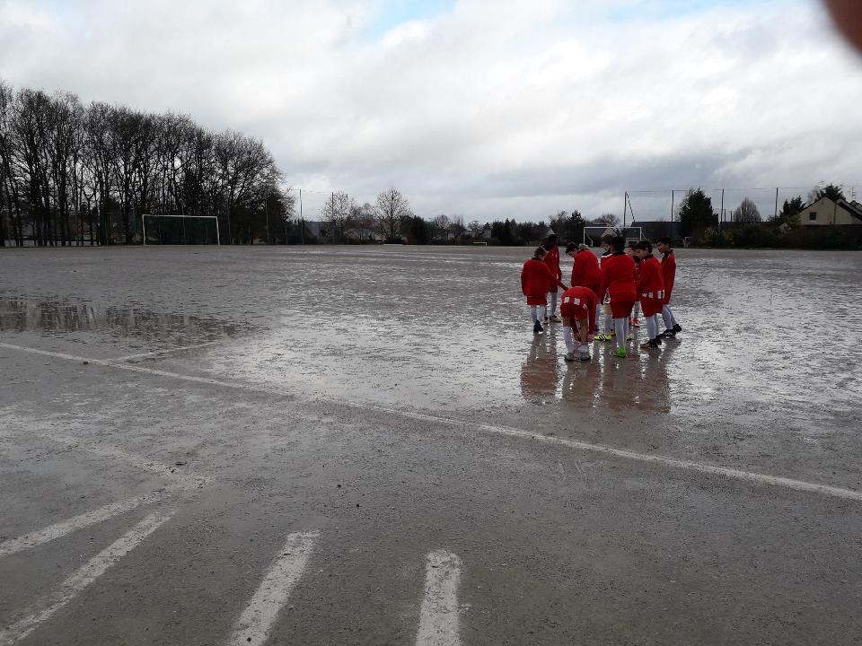 U11 avant leur match