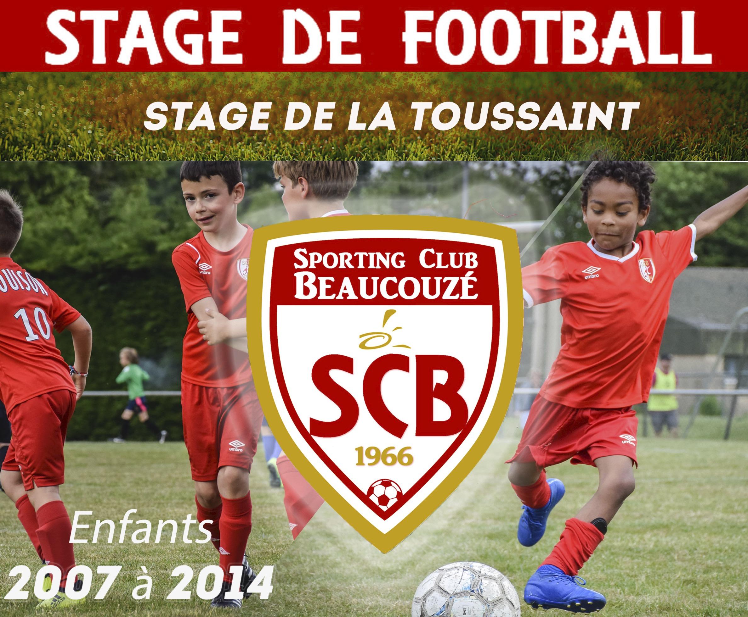 Vacances de la Toussaint : Stage de foot au SCB