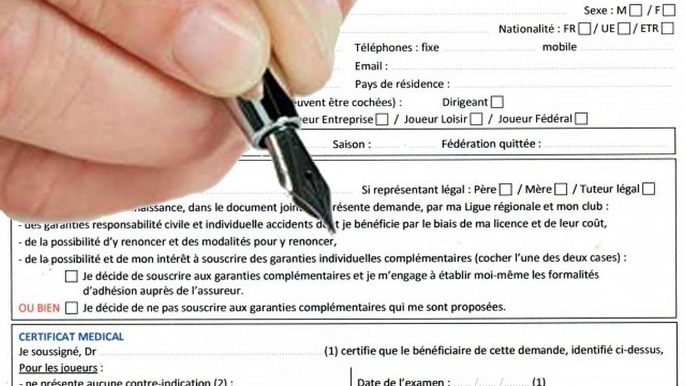 Licence. Dates et horaires des signatures saison 2021-2022