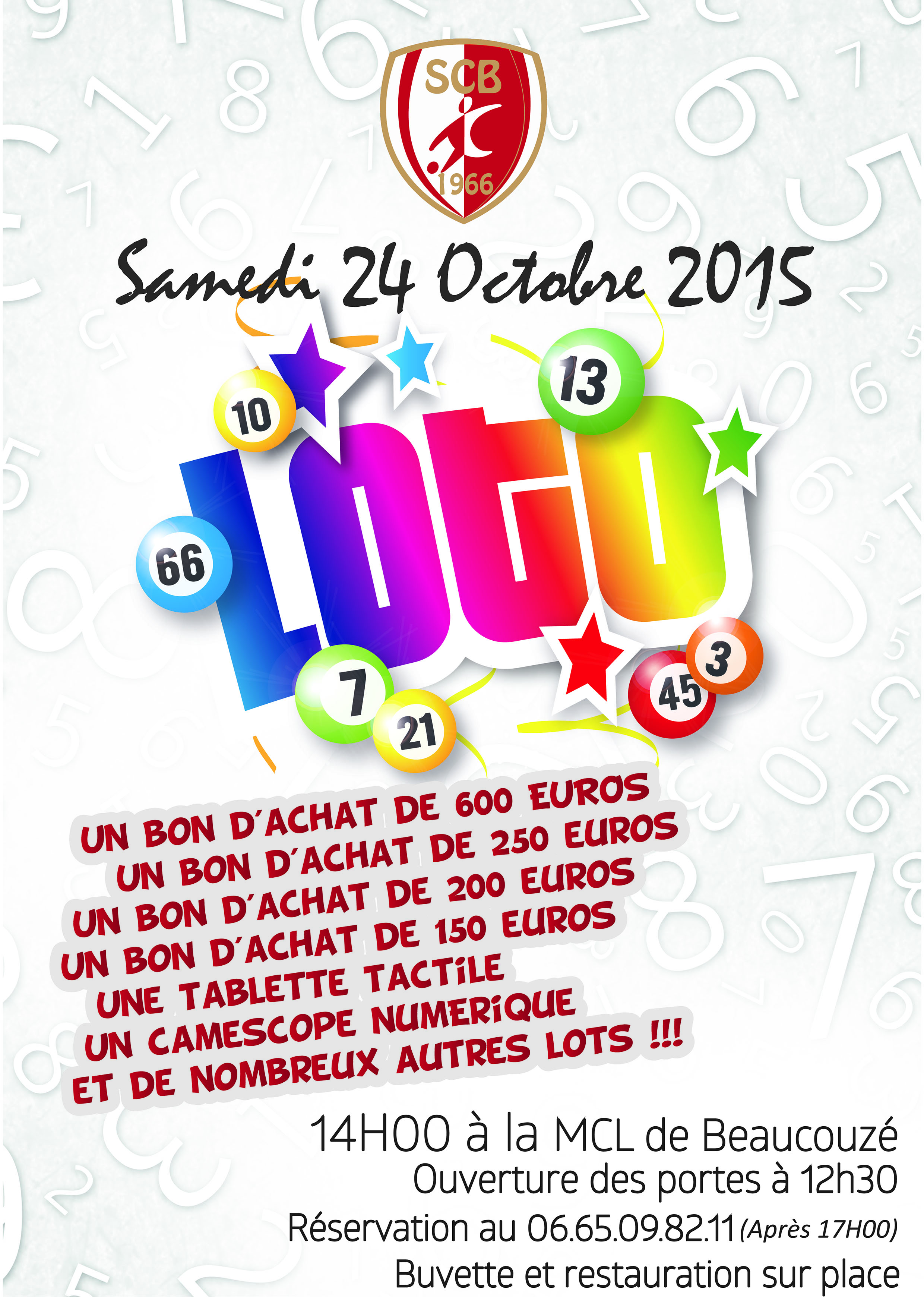 Super Loto / Soirée Bretonne, Samedi 24 Octobre 2015