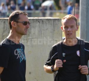 Emmanuel NEVEU pour le foot à 11 (à gauche) et Henri PIGEAU pour le foot réduit(à droite), les valeurs sûres de la stabilité du club.