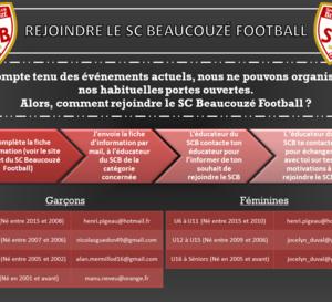 Comment venir jouer au SC Beaucouzé ?