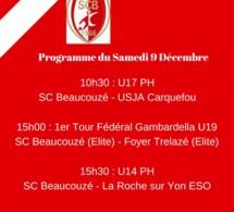 Programme du samedi 9 Décembre